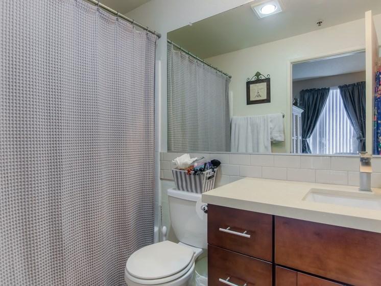 Renovated Bathrooms With Quartz Counters at Hollywood Vista, California, 90046