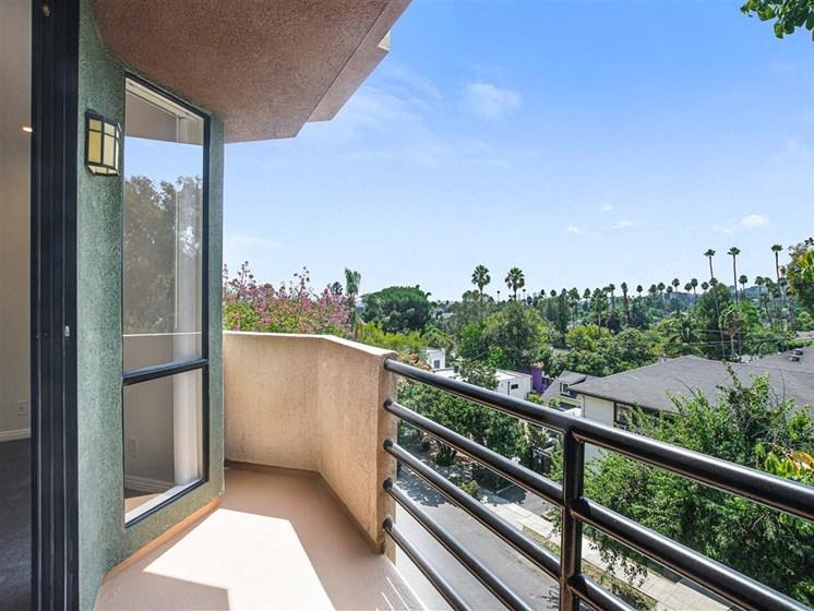 Balcony View at Hollywood Vista, Hollywood, California
