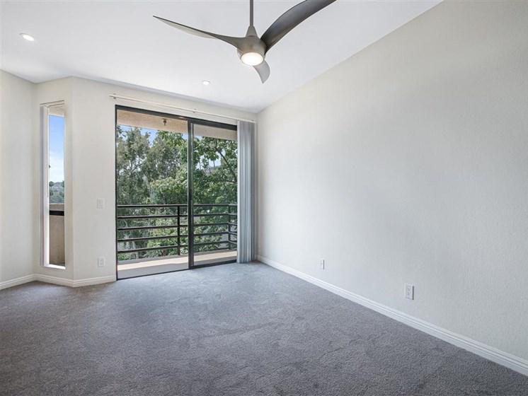 Ceiling Fan In Living Room at Hollywood Vista, California
