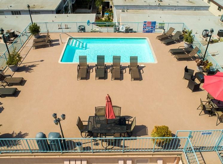 Outdoor Swimming Pool at La Vista Terrace, California, 90046