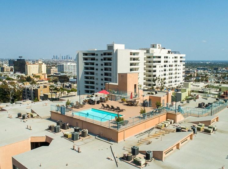 Ariel Amenities View at La Vista Terrace, Hollywood, CA