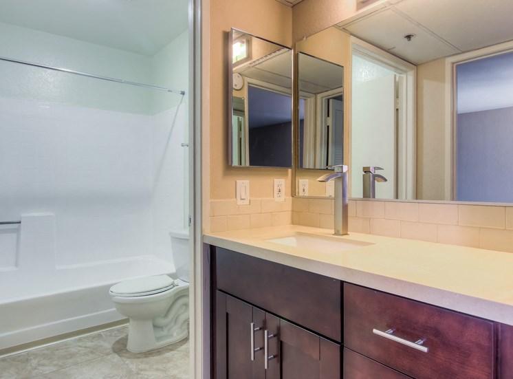 Tiled Bathrooms at La Vista Terrace, California