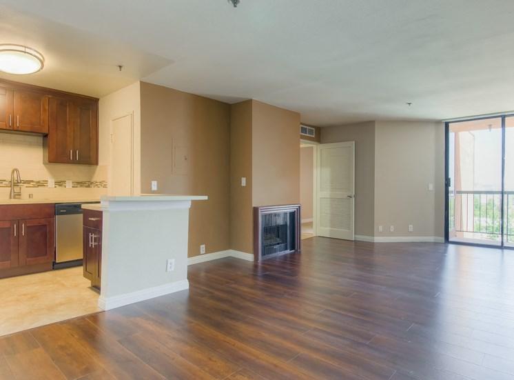 Living Room Entrance at La Vista Terrace, California, 90046