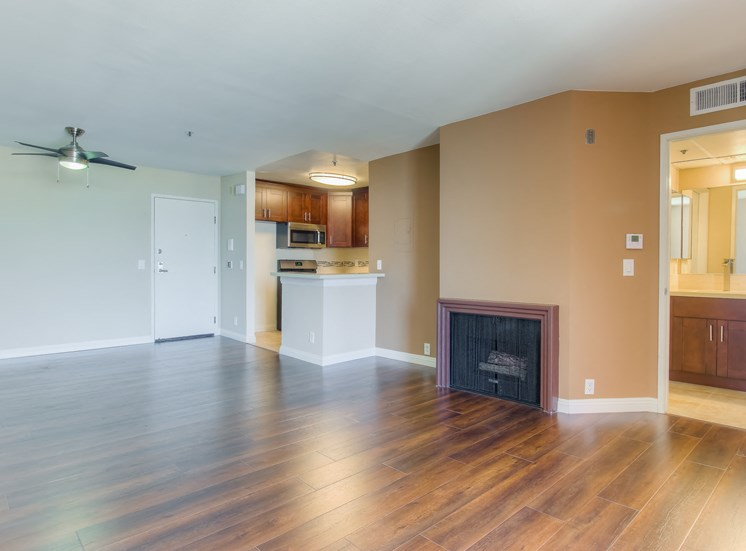 Pleasant Living Room at La Vista Terrace, Hollywood, CA, 90046