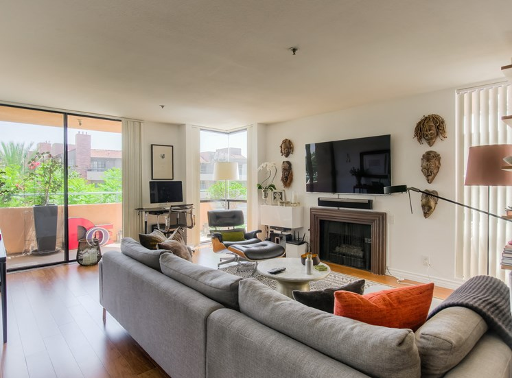 Large Living Room With Attached Balcony at La Vista Terrace, California