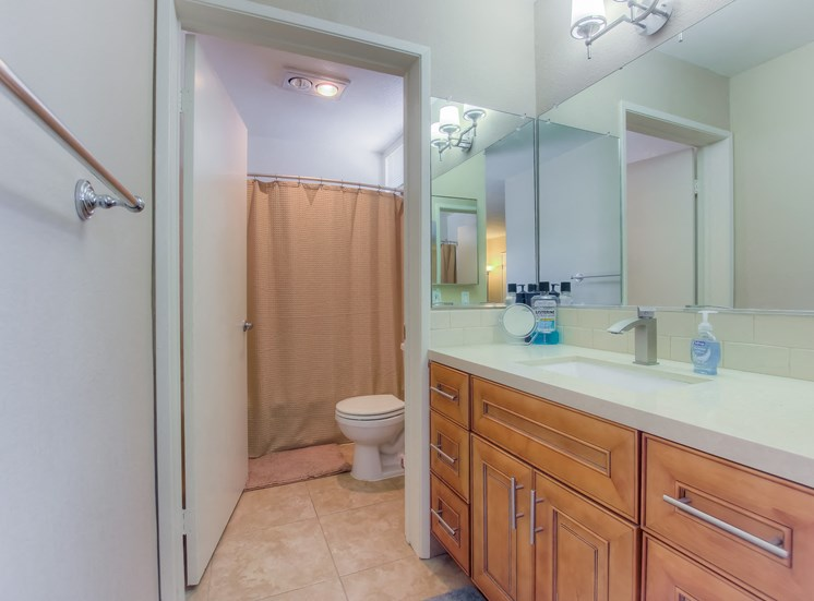 New Bathrooms at La Vista Terrace, Hollywood, California