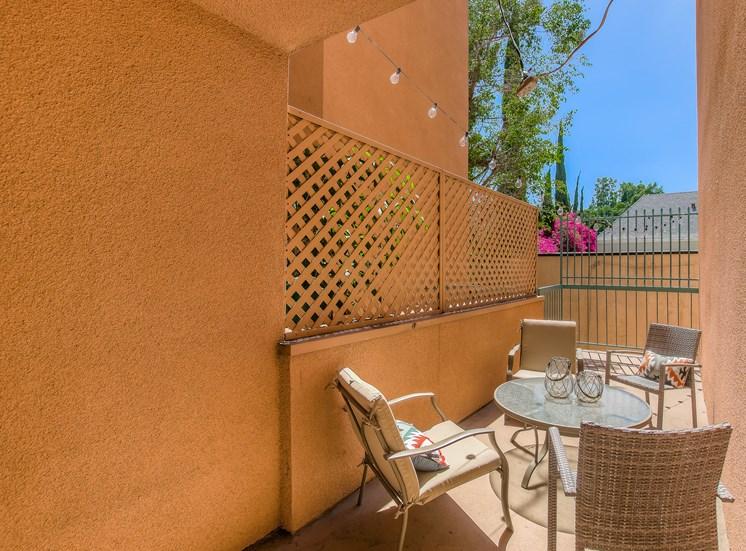 Private Balcony at La Vista Terrace, Hollywood, 90046