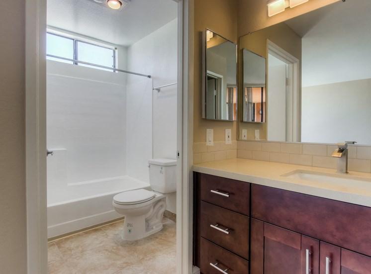 Renovated Units with New Bathroom Vanities at La Vista Terrace, California