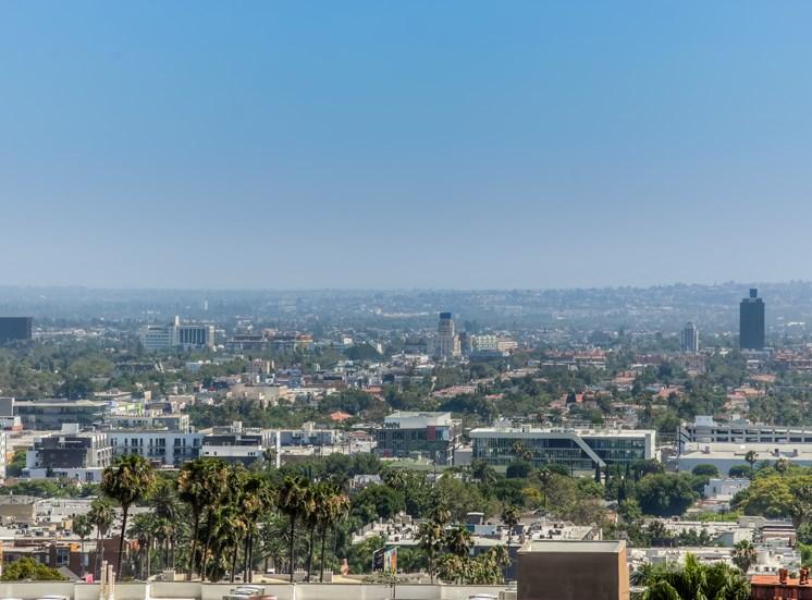 Outdoor View at La Vista Terrace, Hollywood