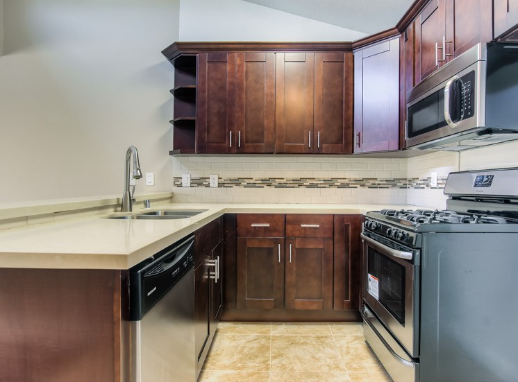 Spacious Kitchen with Pantry Cabinet at La Vista Terrace, Hollywood, California