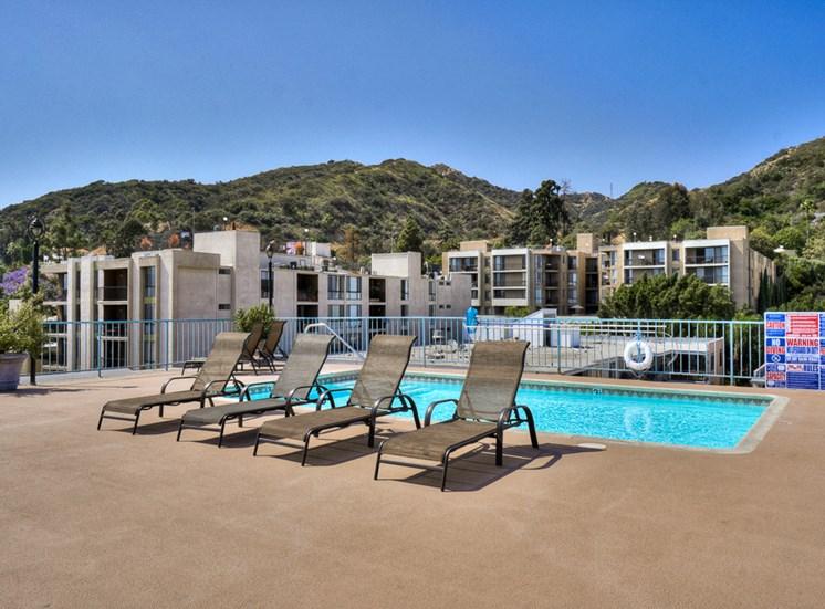 Invigorating Swimming Pool at La Vista Terrace, Hollywood, CA