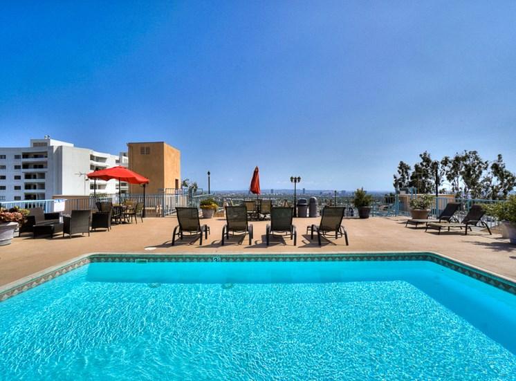 Sparkling Pool at La Vista Terrace, California