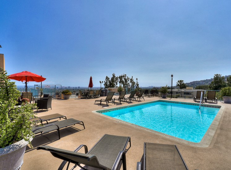 Swimming Pool And Sundeck at La Vista Terrace, California, 90046