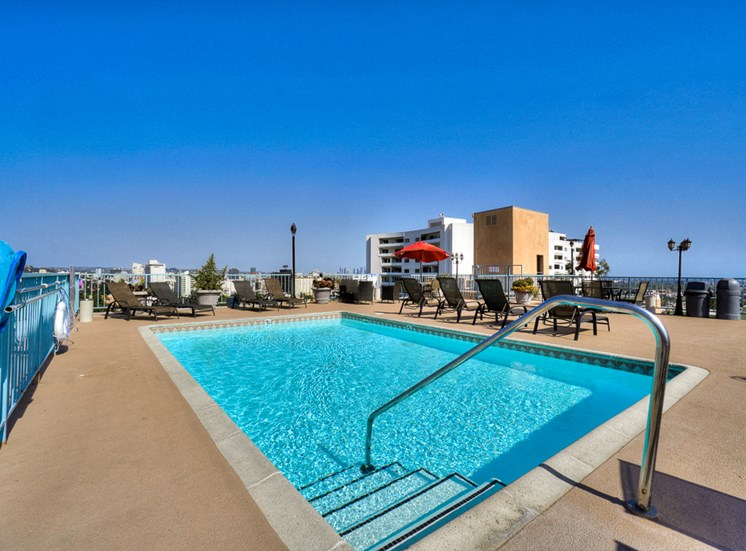 Picturesque Pool And Cabana Setting at La Vista Terrace, Hollywood, CA, 90046