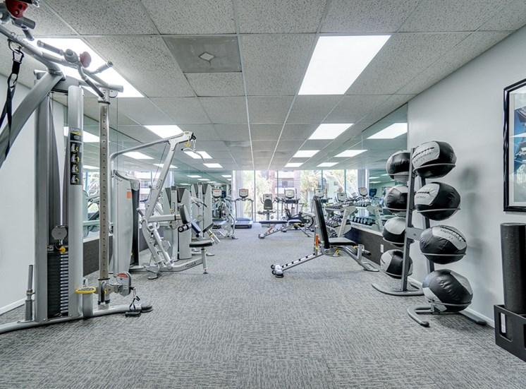 World-Class Fitness Center at La Vista Terrace, Hollywood, California