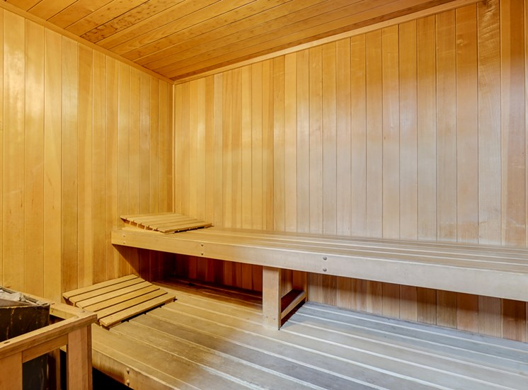 Sauna At Fitness Center at La Vista Terrace, Hollywood, CA, 90046
