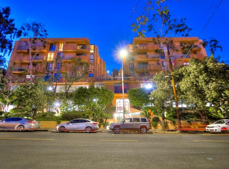 Night View at La Vista Terrace, Hollywood, 90046