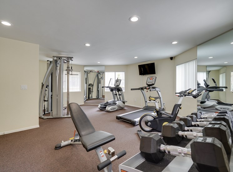 Free Weights and Cardio Equipment at Park Merridy, Northridge, California