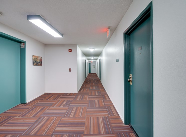 Apartment Hallway at Park Merridy, Northridge, 91325