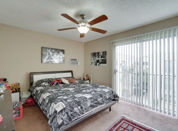 Ceiling fans in all bedrooms to keep you cool and energy efficient at Park Merridy, Northridge, CA