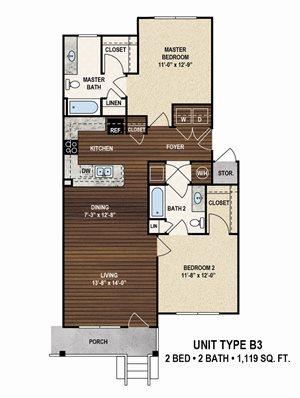 1 - 3 bedroom