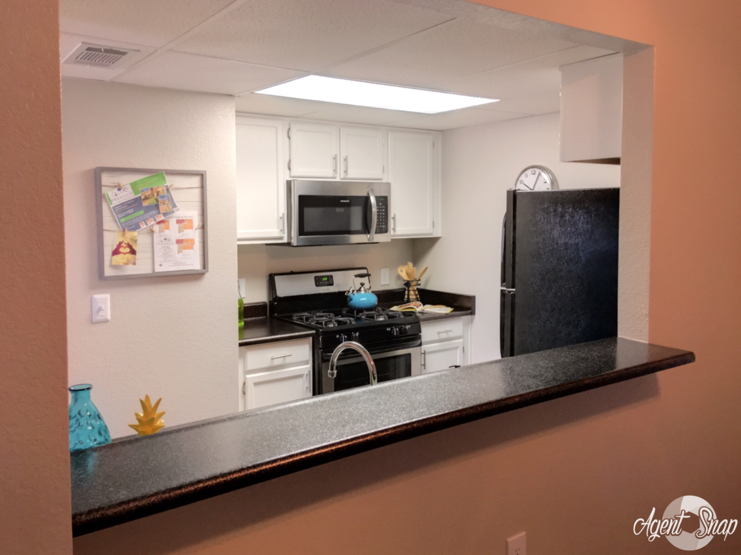 Kitchen with pass-through window, Apartments in 89015, Prelude at the Park