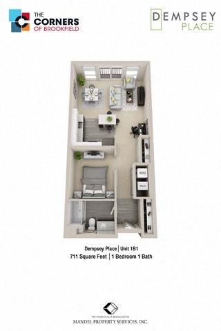 1B1 Floor Plan 3