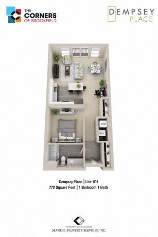 1D1 Floor Plan 7