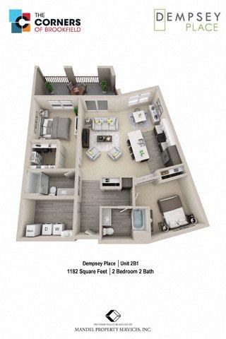 2B1 Floor Plan 14