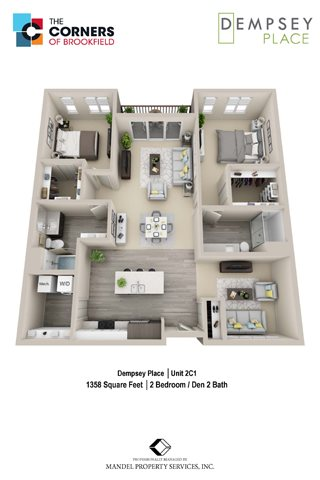 2C1 with Den Floor Plan 17
