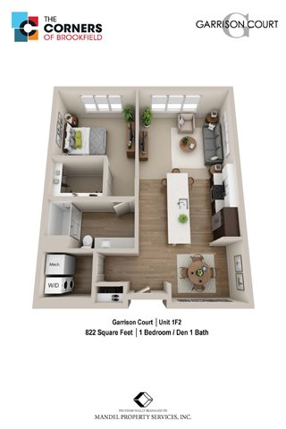 1F2 with Den Floor Plan 13