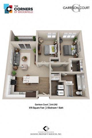 2A2 Floor Plan 15