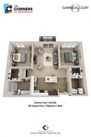 2B2 Floor Plan 16