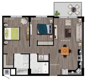 2 Bedroom Style A