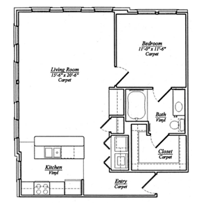 A6 One bedroom