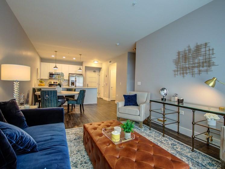 101 West Liberty Street Model Apartment Living Area Photo
