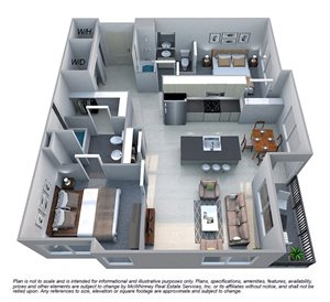Floor plan at Cycle Apartments, Ft. Collins, CO 80525