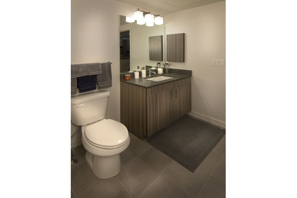 Master Bath Lighting at Cycle Apartments, Ft. Collins, CO