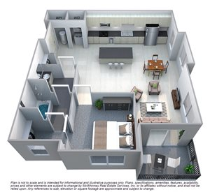 Drake Floor plan at Cycle Apartments, Ft. Collins,Colorado