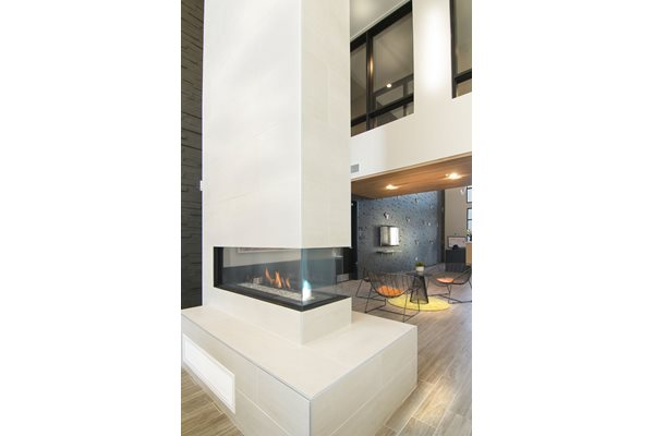 Stunning Fireplace at Cycle Apartments, Ft. Collins