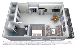 Grant Floor plan at Cycle Apartments, Coloradoq
