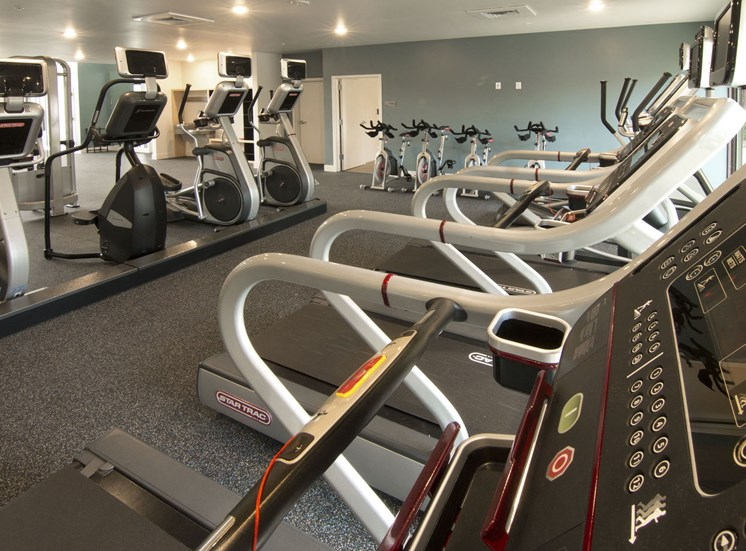 24/7 Fitness Center with Cardio, Weights and TRX at Cycle Apartments, Ft. Collins, CO