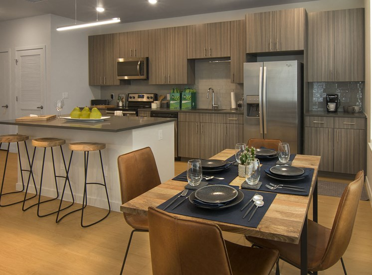 Spacious and Bright Kitchens and Dining Areas at Cycle Apartments, Ft. Collins, 80525