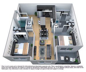 Floor plan at Cycle Apartments, Ft. Collins, CO