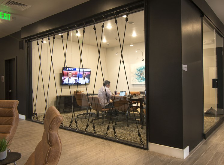 Multimedia Meeting Room Available at Cycle Apartments, Colorado, 80525