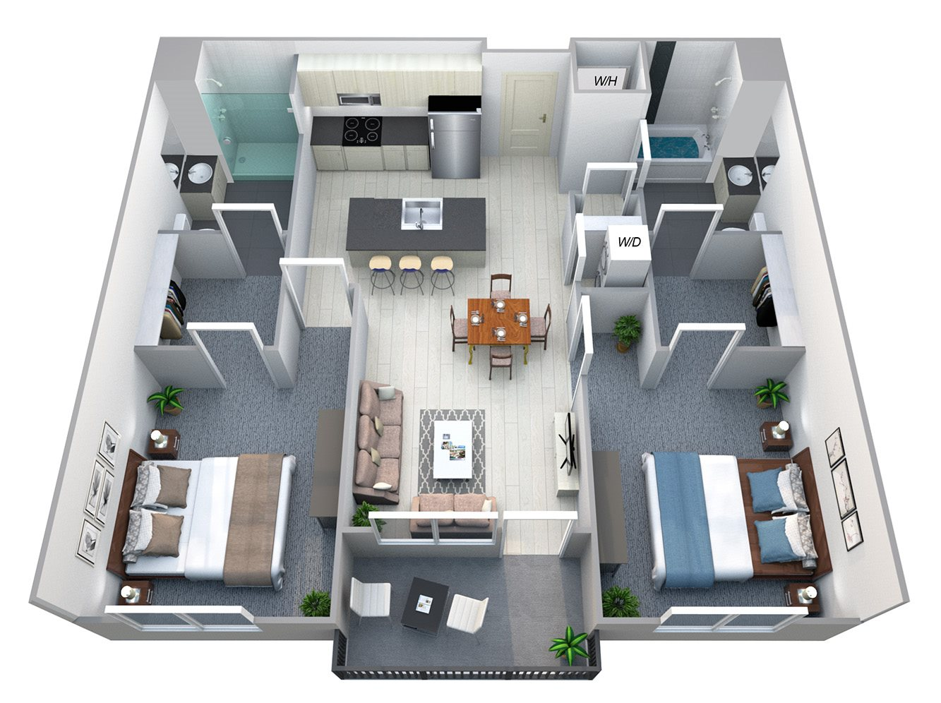 Overland - Two Bdrm Floor Plan at Cycle Apartments, Colorado, 80525