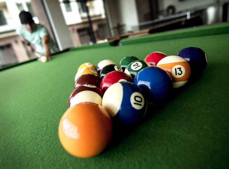Resident Game Room with Billiards and WiFi at Cycle Apartments, Ft. Collins, 80525