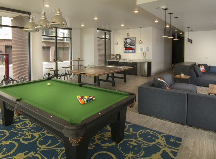 Game Room with Games for the Whole Family at Cycle Apartments, Ft. Collins