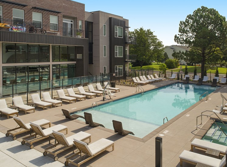 Sparkling Pool at Cycle Apartments, Ft. Collins