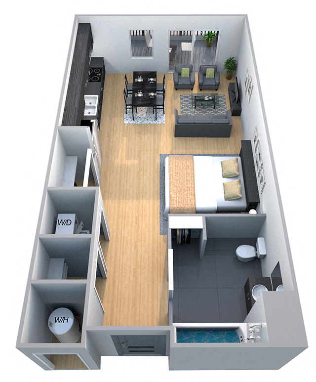 Wonderful Stanford   Studio Floor Plan At Cycle Apartments, Ft. Collins